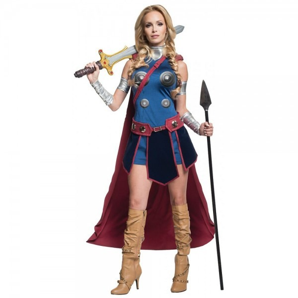 Valkyrie Costume Adult Female Thor Superhero Halloween Fancy Dress