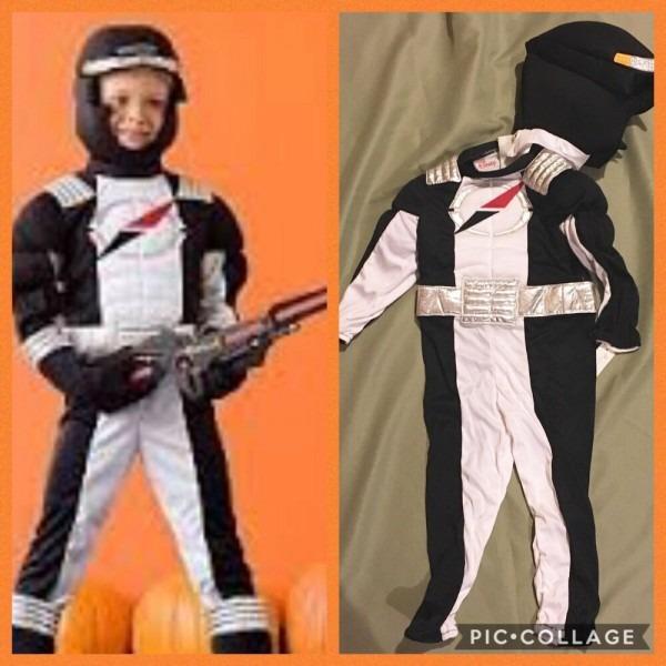 Disney Store Power Ranger White Black Costume Operation Overdrive