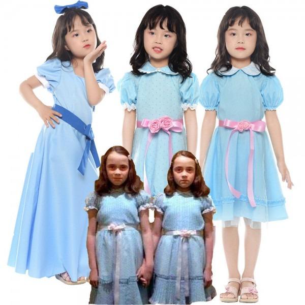 Grady Twin Lisa And Louise Girl Kids Dress Halloween Cosplay