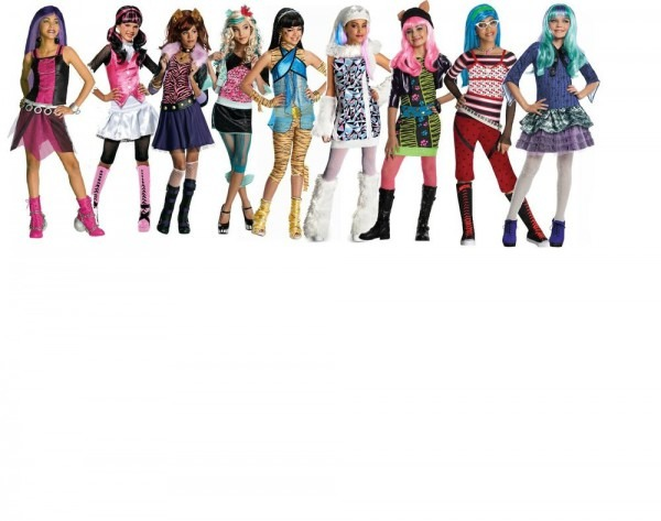 Monster High Characters Abbey ,cleo, Spectra, Lagoona , Ghoulia