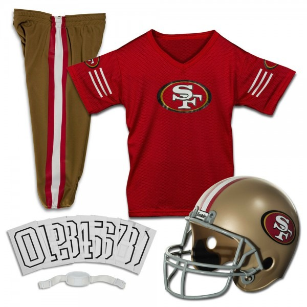 Kids Nfl San Francisco 49ers Jersey Helmet Costume Youth Football