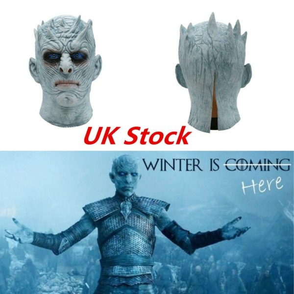 Game Of Thrones Halloween Cosplay White Walker Latex Mask Night