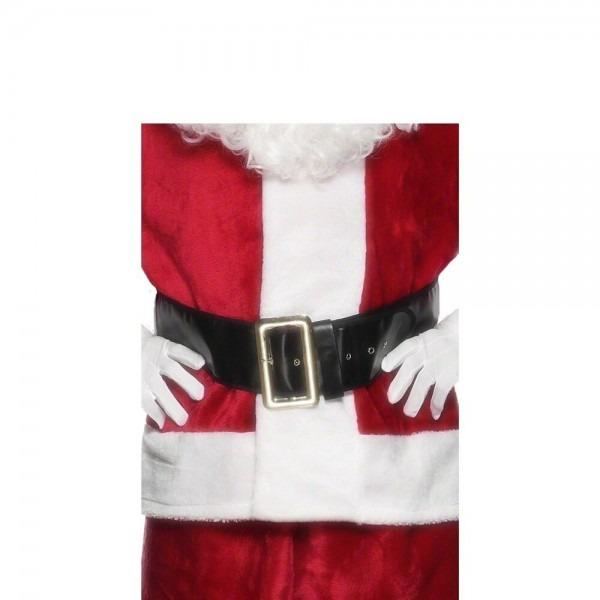 Black Santa Claus Father Christmas Belt Mens Fancy Dress Xmas