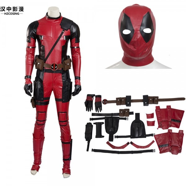 Hzym New Style High Quality Deadpool Cosplay Costume Full Suit