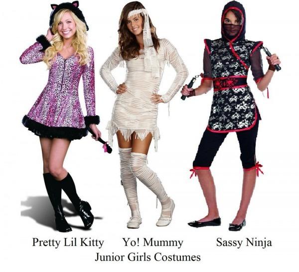 Sassy Ninja, Pretty Little Kitty Or Yo! Mummy Junior Girls Costume