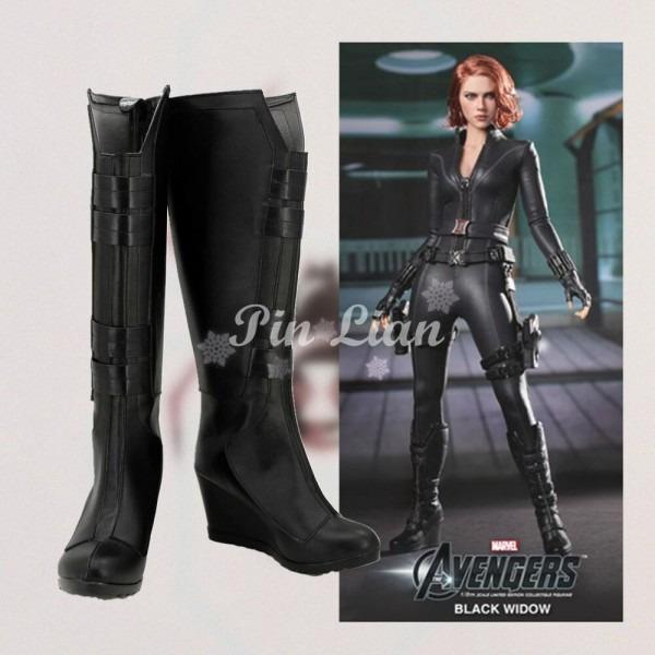 Marvel Avengers Civil War Black Widow Natasha Boots Shoe Heroine