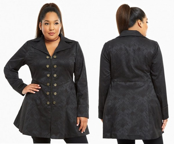 Torrid Once Upon A Time Captain Killian Hook Cosplay Coat Womens