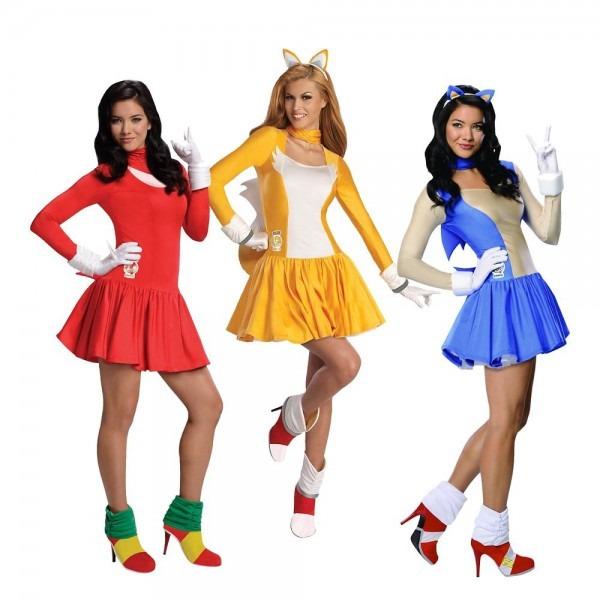 Sonic The Hedgehog Costume Adult Halloween Fancy Dress