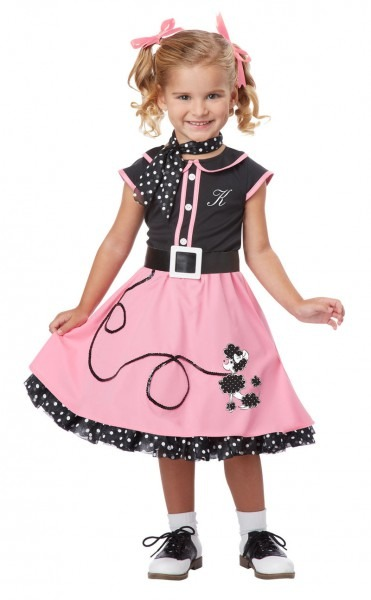 Grease 50's Poodle Cutie Toddler Costume