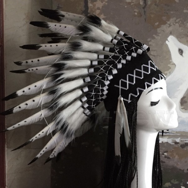 Native American Chief Headwear Indian Feather Unisex Halloween