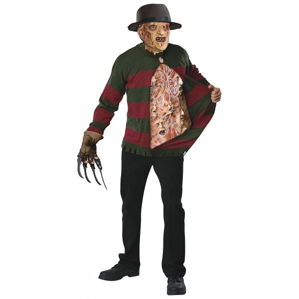 Freddy Krueger Sweater With Chest Of Souls Adult Costume Xl Rubies