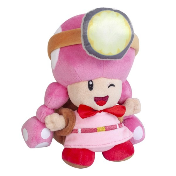 Super Mario Bros  Toadette Toad Pink Little Buddy Soft Plush Doll