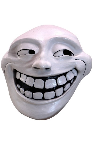 Internet Trollface Adult Latex Mask Funny Meme Troll Face Rage