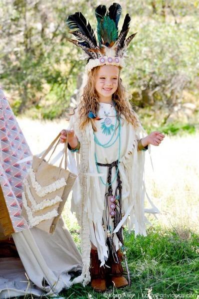 Kara's Party Ideas No Sew Diy Sacagawea Indian Halloween Costume!