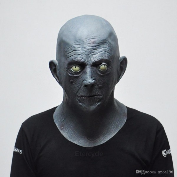 Scary Gray Old Man Masks Halloween Latex Party Mask Elderly Bald
