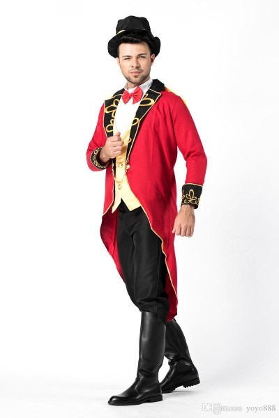 2019 Sexy Lingerie Carnival Ringmaster Mens Fancy Dress Circus
