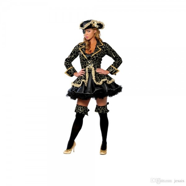 Sexy Pirate Wench Lady Halloween Cosplay Costume Set For Adults