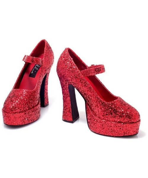 Adult Sexy Red Glitter Eden Shoes