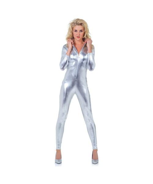 Adult Silver Metallic Costume