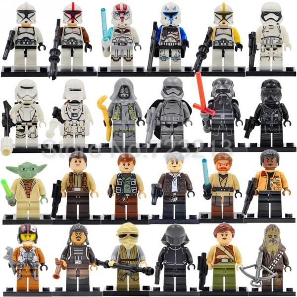 Single Sale Yoda Luke Obi Wan Kenobi Clone Trooper Figure