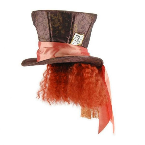 Disney Alice In Wonderland Mad Hatter Top Hat With Hair Mad Hatter