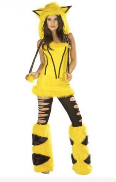 Cosplay Yellow Furry Elephant Halloween Costume