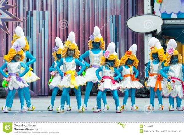 Smurfs Girls Dancing Editorial Photography  Image Of Caucasian