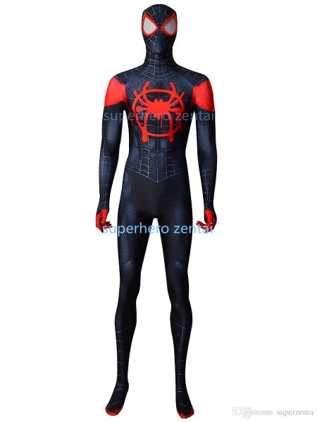 Spandex Black Spiderman Costume Newest Anime Cosplay Catsuit