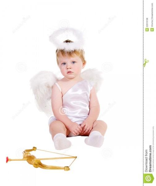 St  Valentine's Day Angel Boy Stock Photo
