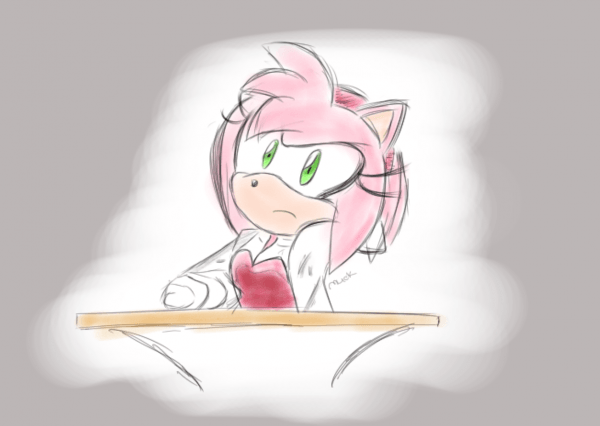 Amy In Her Sonic X Dress By Mlick   Sonicthehedgehog