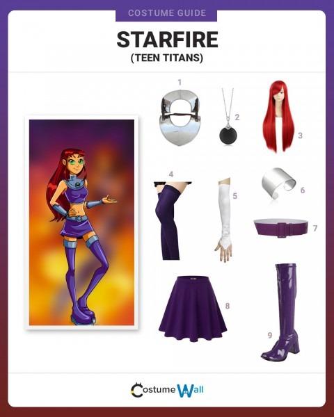 Dress Like Starfire Costume