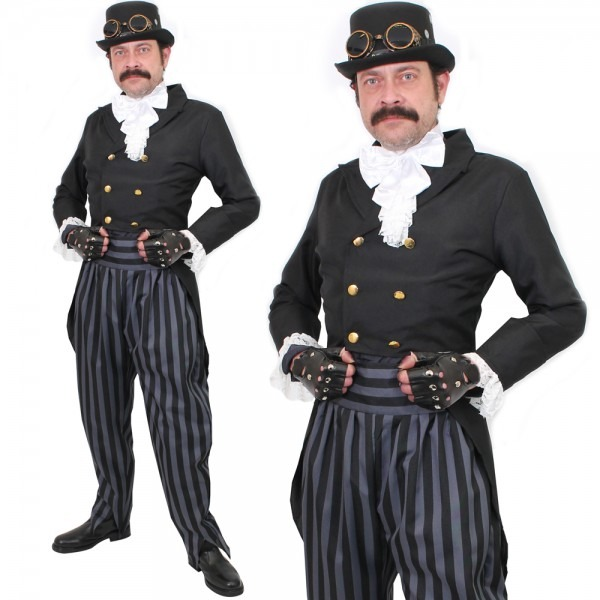 Adult Deluxe Steampunk Costume Mens Victorian Steam Punk Cosplay