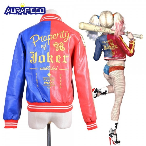 Suicide Squad Harley Quinn Jacket Property Of Joker Embroidery