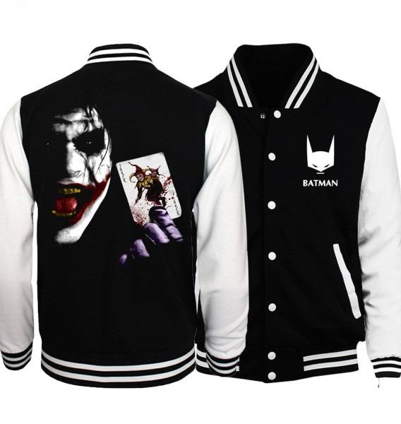 Superman Series Batman 2 Joker Hip Hop Plus Size Baseball Jacket