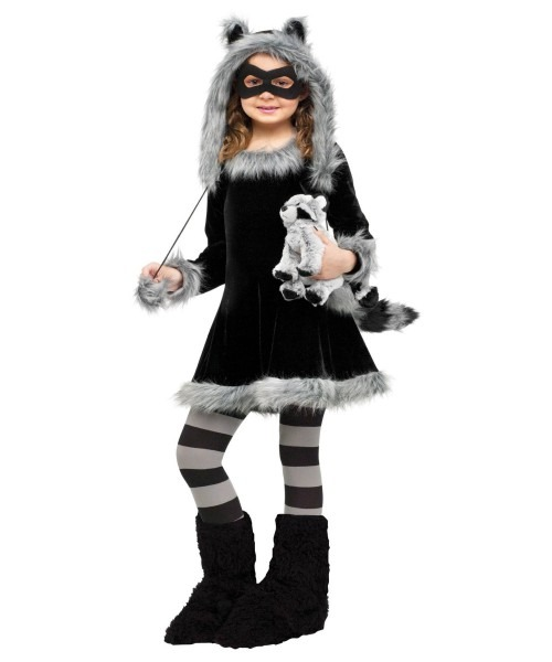 Sweet Raccoon Girl Halloween Costume