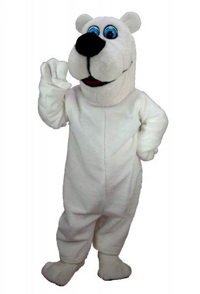 Buy Toon Polar Bear Mascot Costume Support Your Favorite Animal