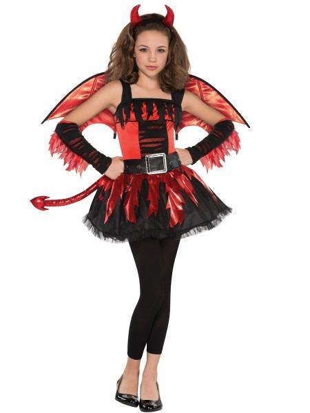 34 Teen Devil Costumes, Tween Heavenly Devil Costume
