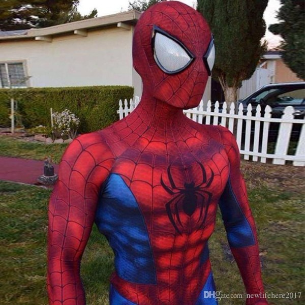 2019 The Amazing Spider Man Homecoming Costume Spiderman Cosplay