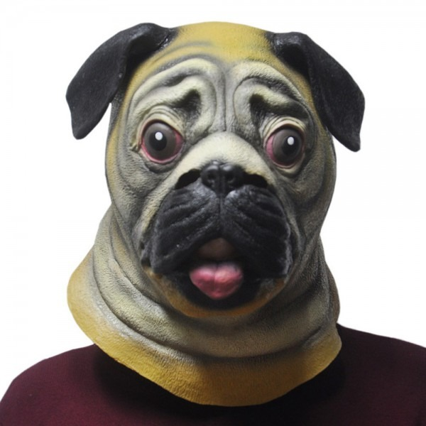 The Shar Pei Dog Latex Rubber Mask Adult Animal Party