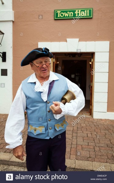 The Town Crier Of St George, Bermuda Dressed In Historical Costume