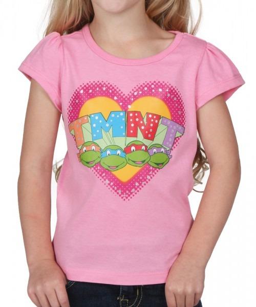 Toddler Tmnt Heart Girls T