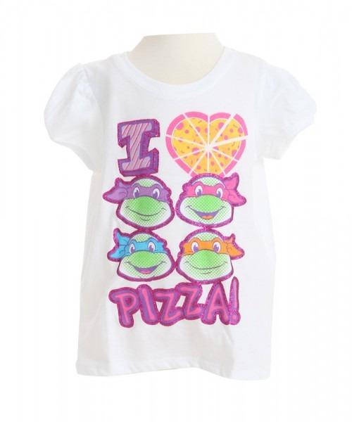 Toddler Tmnt I Love Pizza Girls Shirt