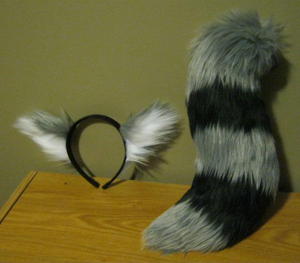 Co  Lost Boy Raccoon Tail Ear Set — Weasyl