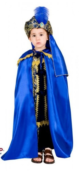 Deluxe Blue Wiseman Biblical Boys Religious Sultan King Kids