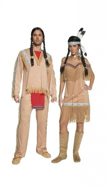 Western Authentic Indian Dress Couple, Western Couples Costumes