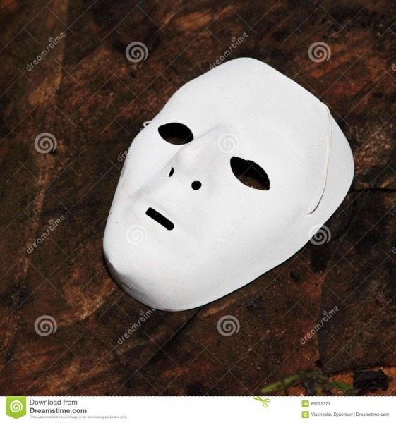 White Face Mask For Halloween Stock Image