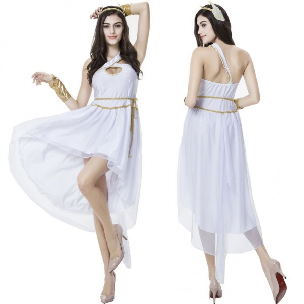 Women Venus Greece Goddess Costume Toga Halloween Cosplay Fancy