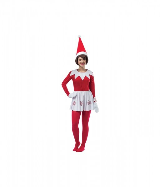 The Elf On The Shelf Womens Red Dress Costume