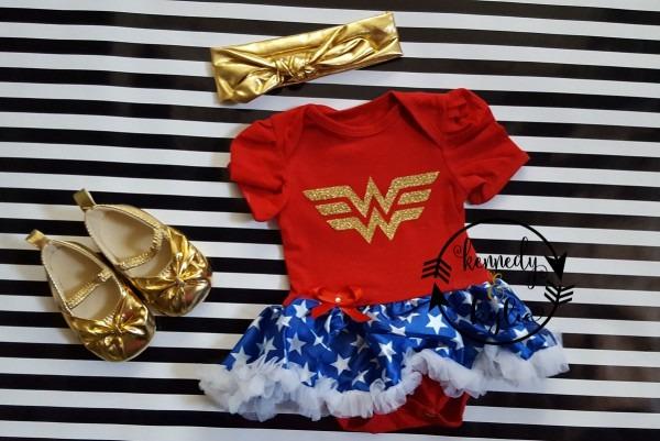 Baby Girl Wonder Woman Tutu Costume