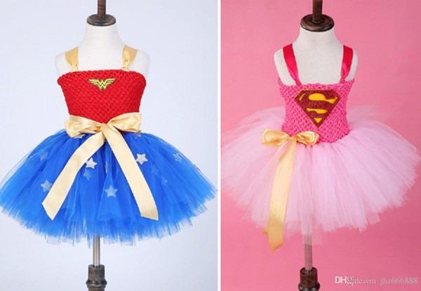 2019 Wonder Women Princess Dress Batman Superman Sleeveless Child